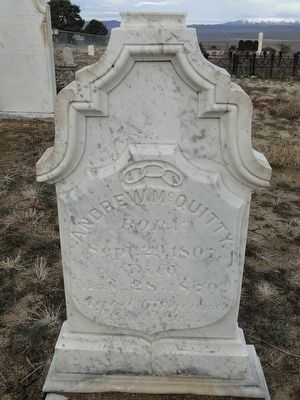 Gravestone of Andrew McQuitty image. Click for full size.