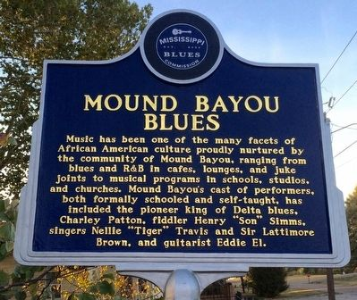 Mound Bayou Blues Marker (Front) image. Click for full size.
