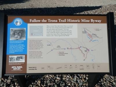 Follow the Trona Trail Historic Mine Byway information plaque image. Click for full size.