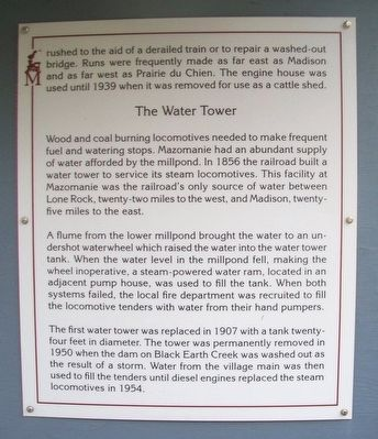 The Turntable, The Engine House, The Water Tower Marker image. Click for full size.