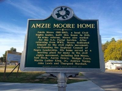 Amzie Moore Home Marker image. Click for full size.