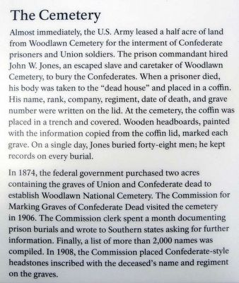 Confederate Burials in the National Cemetery Marker image. Click for full size.