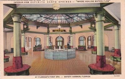 "<i>Interior View Espiritu Santo Springs -- ""Where Healing Waters Flow""</i> image. Click for full size."