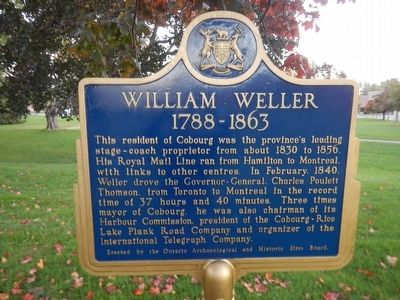 William Weller Marker image. Click for full size.