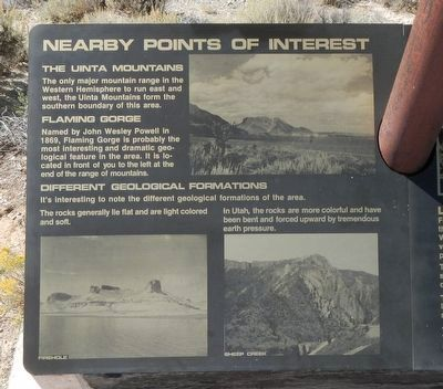 Linwood Bay Marker, left panel image. Click for full size.