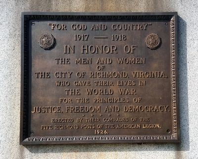 """For God And Country"" Marker image. Click for full size."