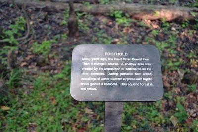 Foothold Interpretive Sign image. Click for full size.