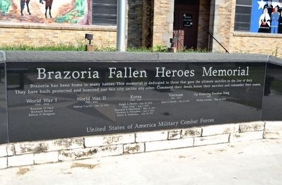 Brazoria Fallen Heroes Memorial image. Click for full size.