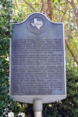 Brazoria Bridge Marker image. Click for full size.
