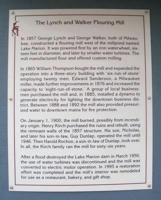 Lynch and Walker Flouring Mill Marker image. Click for full size.