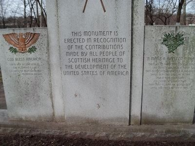Scottish American Monument Marker image. Click for full size.