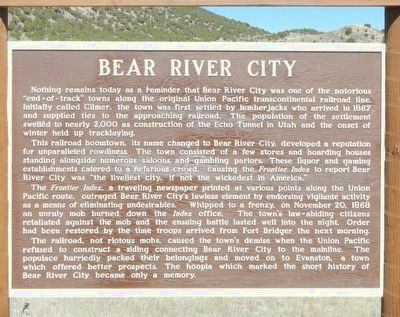 Bear River City Marker image. Click for full size.