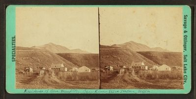 The Residence of Ben Hampton, Bear River Stage Station. Utah (sic) image. Click for full size.