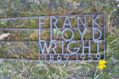 Frank Lloyd Wright Grave Detail in Unity Chapel Cemetery image. Click for full size.