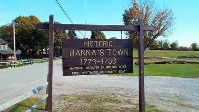 Site of Historic Hanna's Town image. Click for full size.