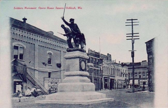 <i>Soldiers Monument Opera House Square, Oshkosh, Wis.</i> image. Click for full size.