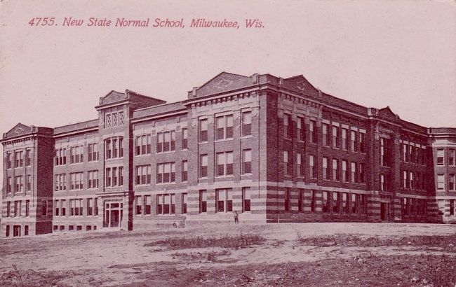 <i>The New State Normal School, Milwaukee, Wis.</i> image. Click for full size.