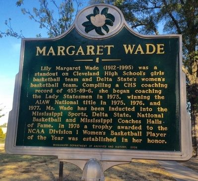 Margaret Wade Marker image. Click for full size.