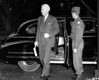 William L. Clayton arrives for Potsdam Conference. image. Click for full size.
