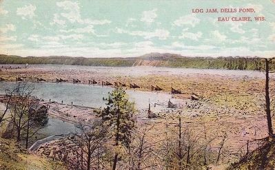 <i>Log Jam, Dells Pond, Eau Claire, Wis.</i> image. Click for full size.