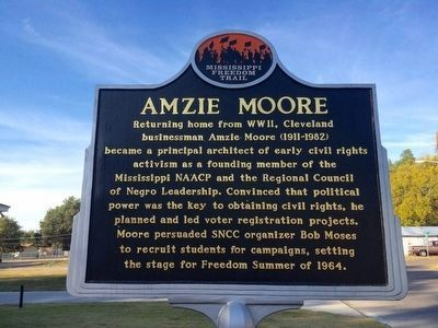Amzie Moore Marker (Front) image. Click for full size.