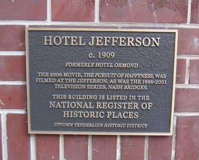 Jefferson Hotel Marker image. Click for full size.