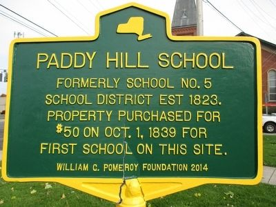 Paddy Hill School Marker image. Click for full size.