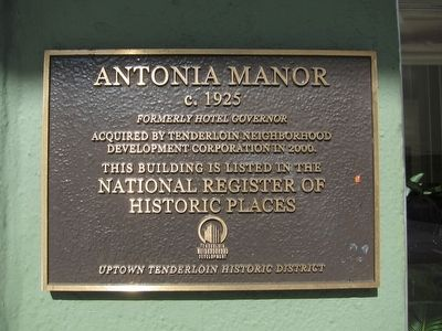 Antonia Manor Marker image. Click for full size.