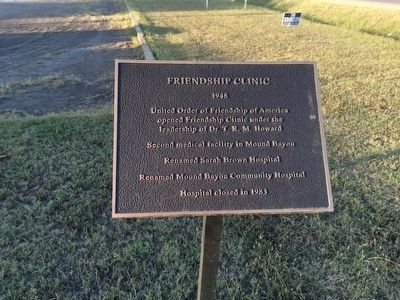 Friendship Clinic plaque. image. Click for full size.