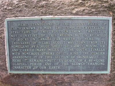 Plaque on Boulder image. Click for full size.