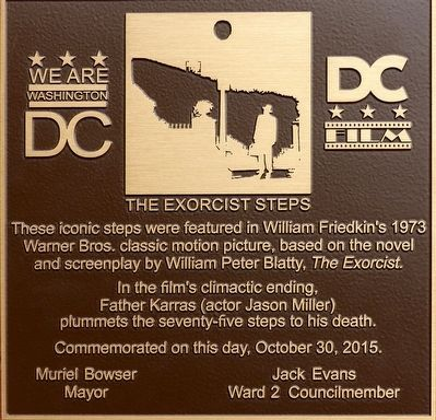 The Exorcist Steps Marker image. Click for full size.