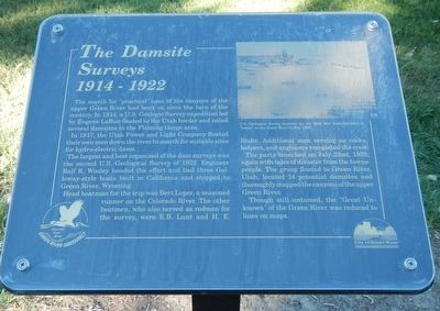The Damsite Surveys Marker image. Click for full size.