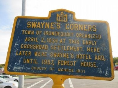 Swayne's Corners Marker image. Click for full size.