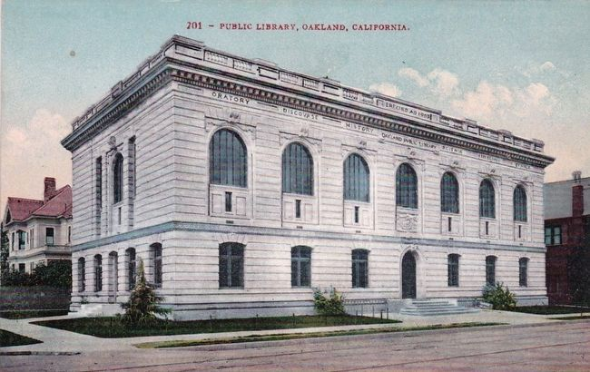 <i>Public Library, Oakland, California</i> image. Click for full size.