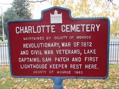 Charlotte Cemetery Marker image. Click for full size.