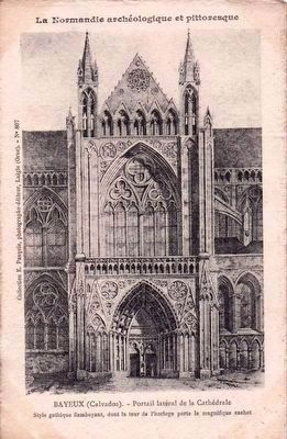 Historic Postcard View of the Transept Portal image. Click for full size.