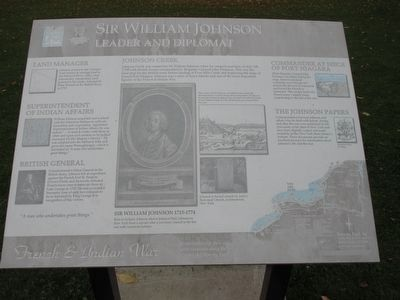 Sir William Johnson Marker image. Click for full size.