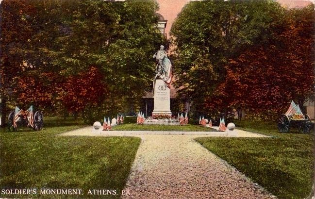 <i>Soldier's Monument, Athens, Pa.</i> image. Click for full size.