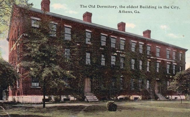 <i>Old Dormitory, the Oldest building in the City, Athen, Ga.</i> image. Click for full size.