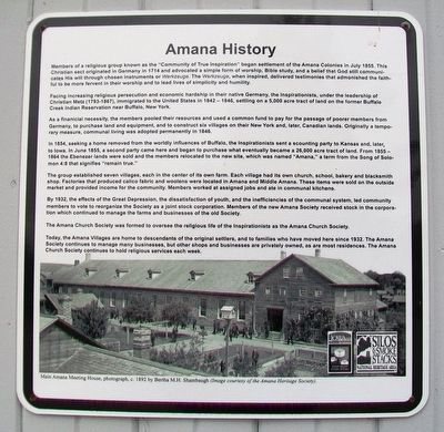 Amana History Marker image. Click for full size.