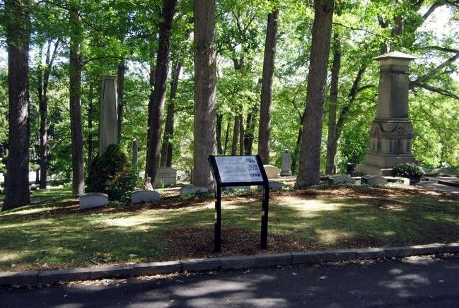 Mark Twain Marker<br>Langdon Family Plot image. Click for full size.