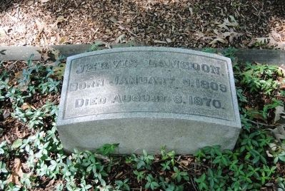 Jervis Langdon Tombstone<br>Born January 5, 1809<br>Died August 6, 1870 image. Click for full size.