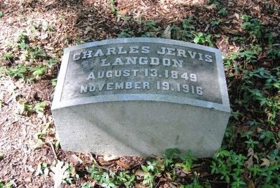 Charles Jervis Langdon Tombstone<br>August 13, 1849<br>November 19, 1916 image. Click for full size.