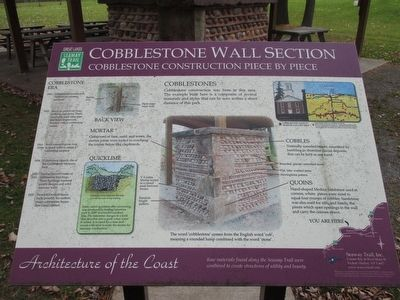 Cobblestone Wall Section Marker image. Click for full size.