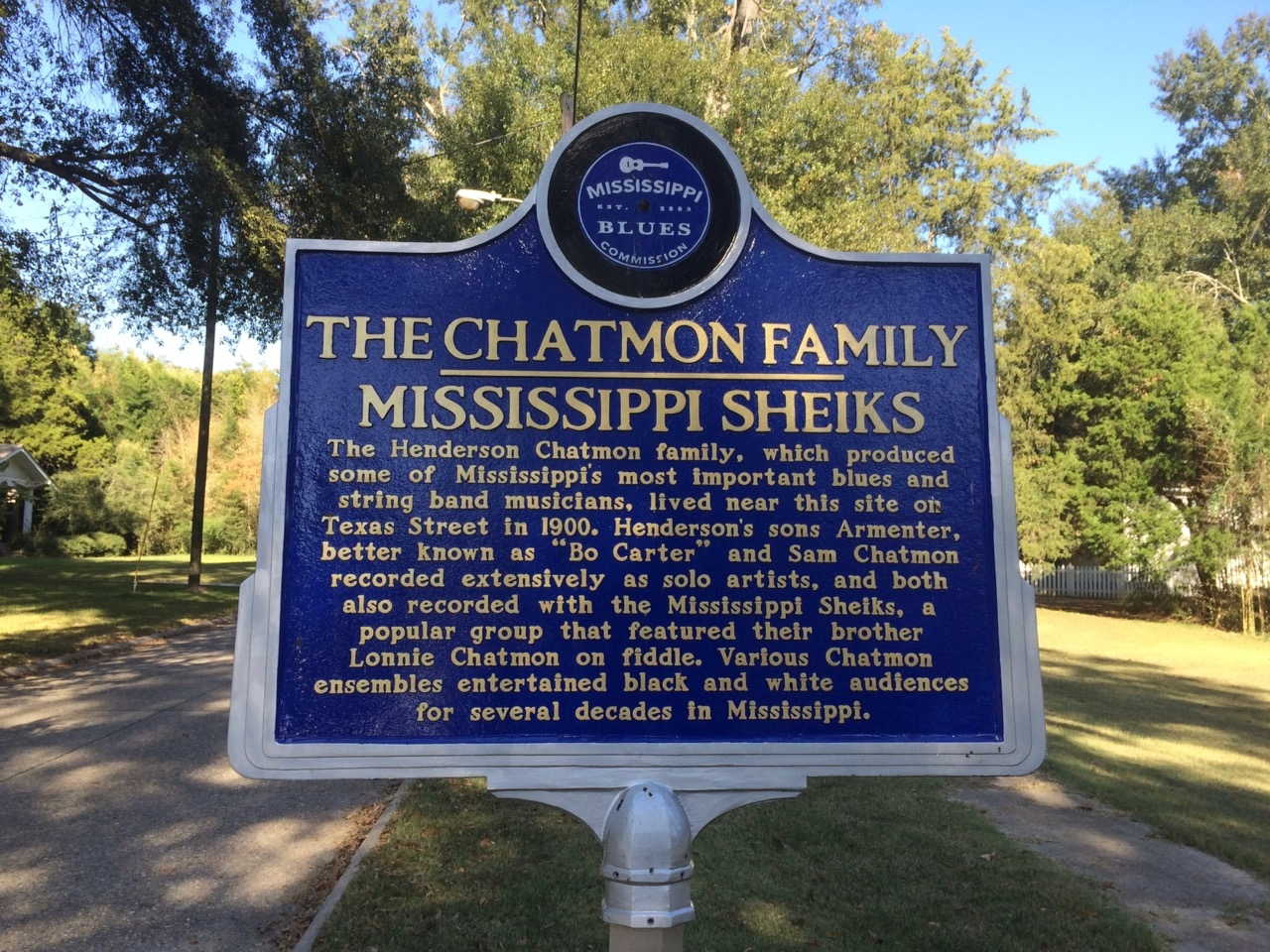 The Chatmon Family - Mississippi Sheiks Marker (Front)