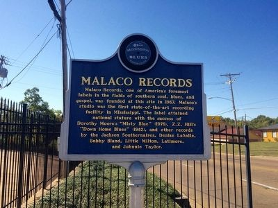 Malaco Records Marker (Front) image. Click for full size.