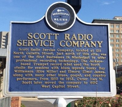 Scott Radio Service Company Marker (Front) image. Click for full size.