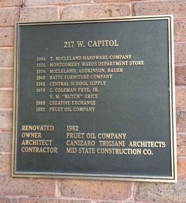 217 W. Capitol lineage of owners. image. Click for full size.
