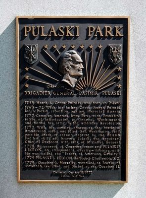 Pulaski Park Monument image. Click for full size.