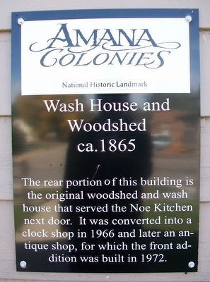 Wash House and Woodshed Marker image. Click for full size.